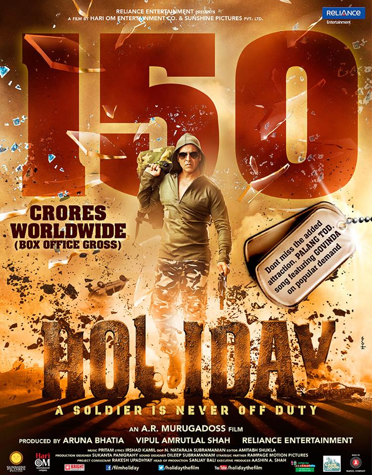 holiday 150 Cr worldwide