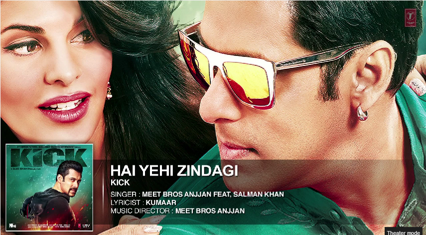Kick  Hai Yehi Zindagi   Salman Khan   Meet Bros Anjjan   YouTube