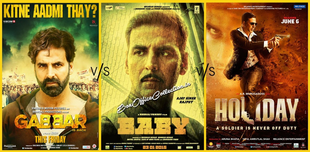 gabbar is back vs baby vs holiday