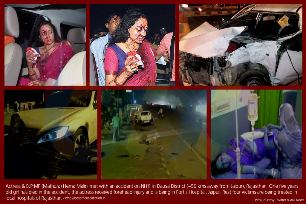 hema malini accident in dausa rajasthan