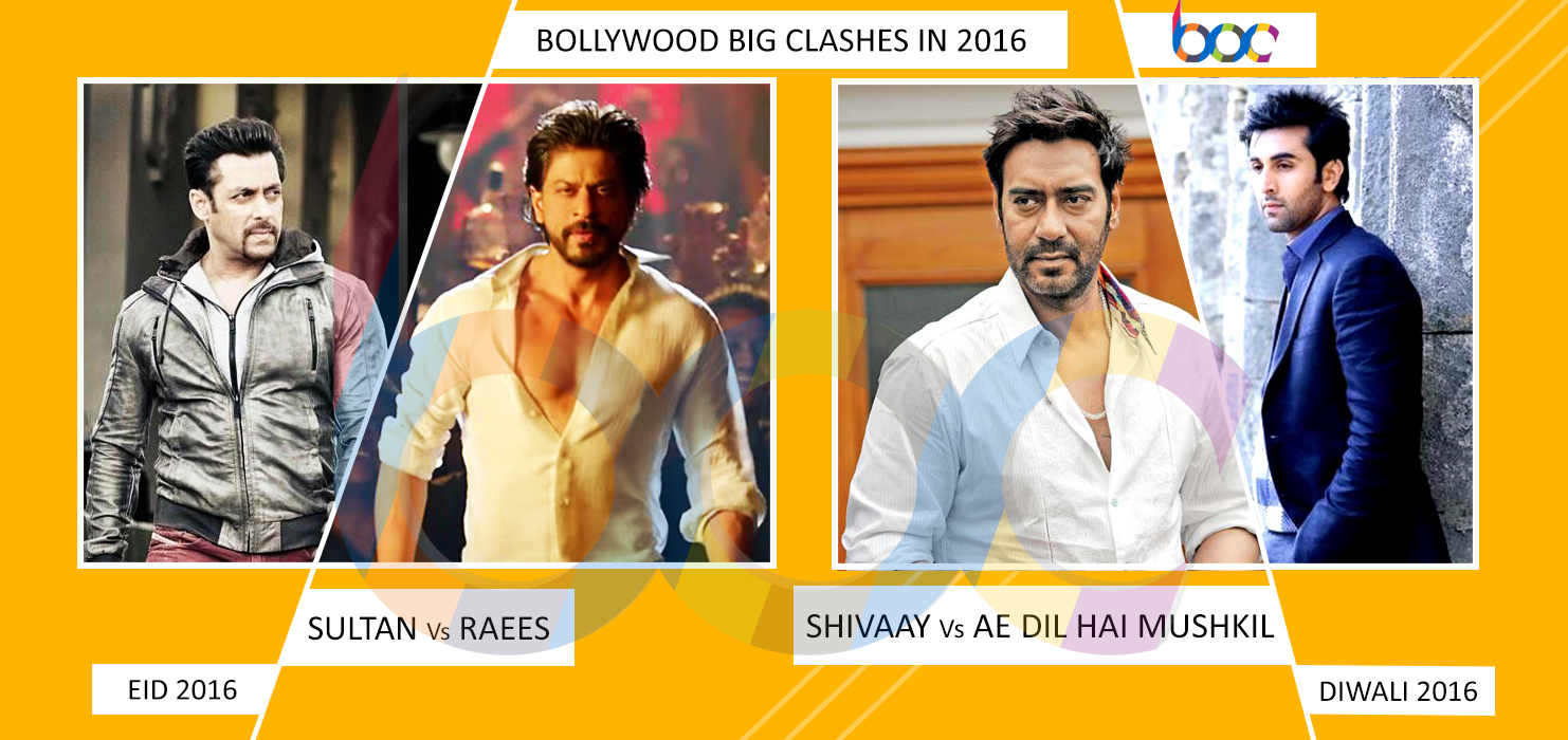 Big Clashes in 2016: Sultan Vs Raees and Shivaay Vs Ae Dil Hai Mushkil