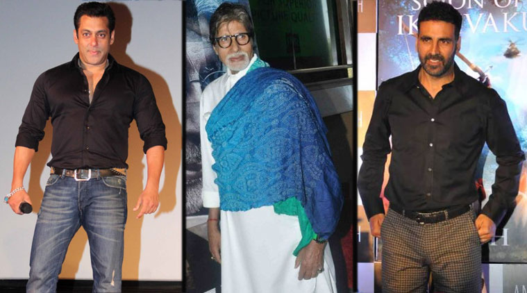 World Highest Paid Actors- Salman Khan. Amitabh Bachchan & Akshay Kumar