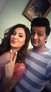 Puja Banerjee with Co-star (1)