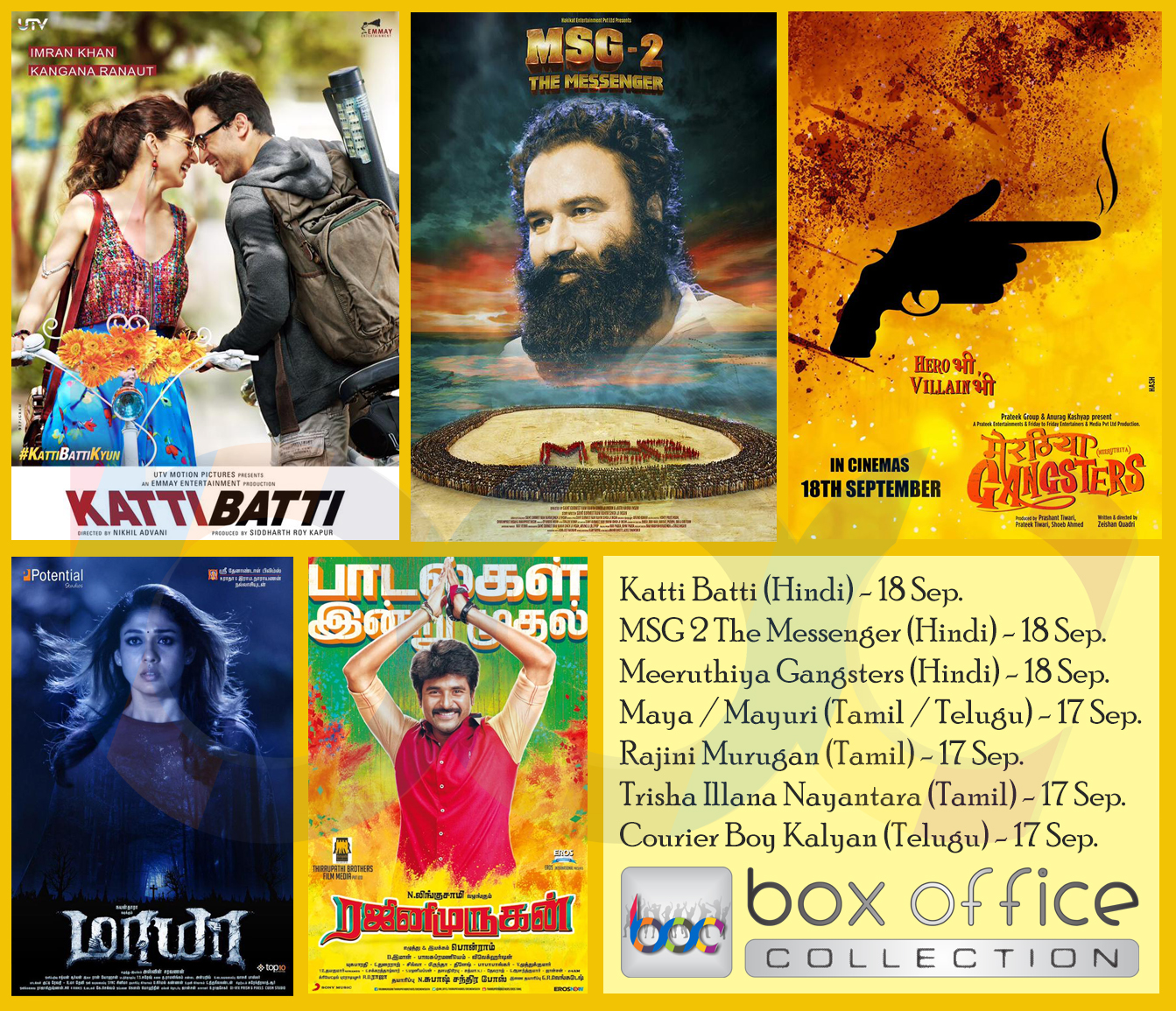 movies on 17-18 september 2015