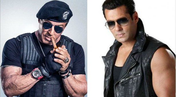 salman khan-sylvester stallone together