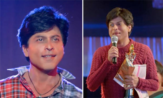 shahrukh khan looks in fan movie