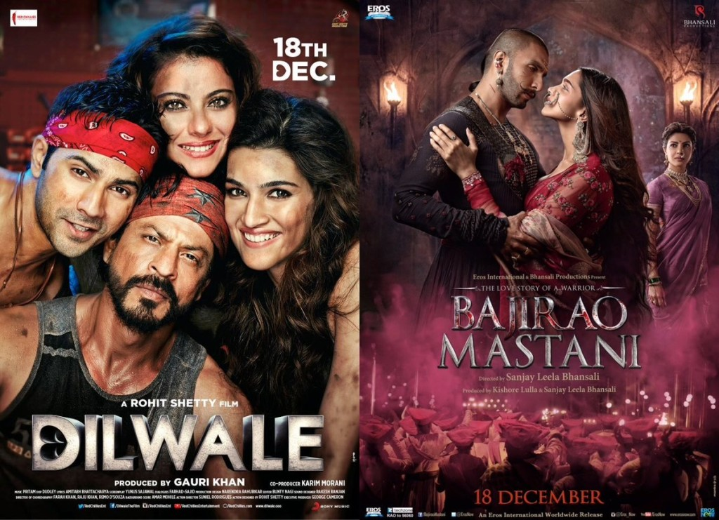 dilwale vs bajirao mastani movie