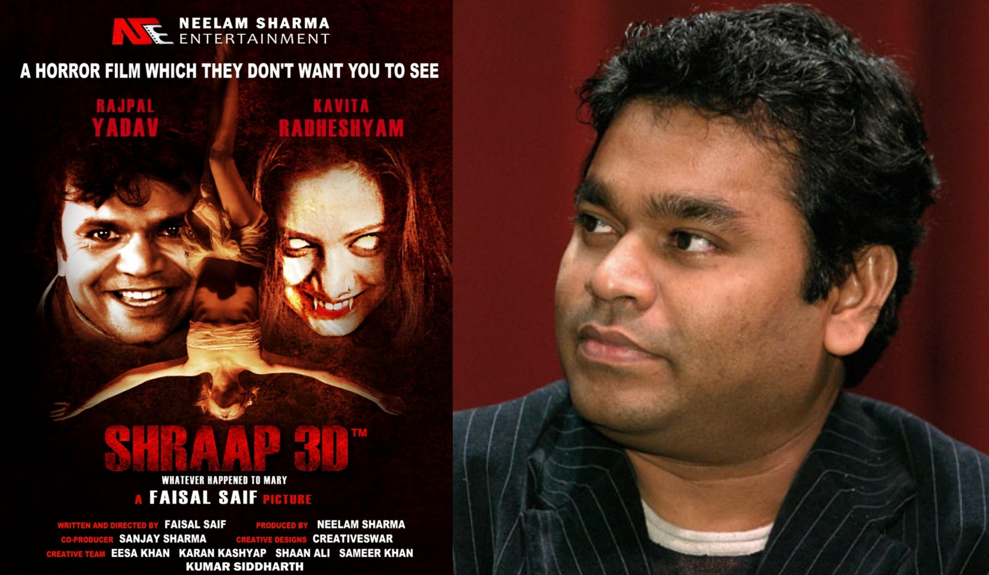 Shraap 3D might have the Title Song Composed by A R Rahman!