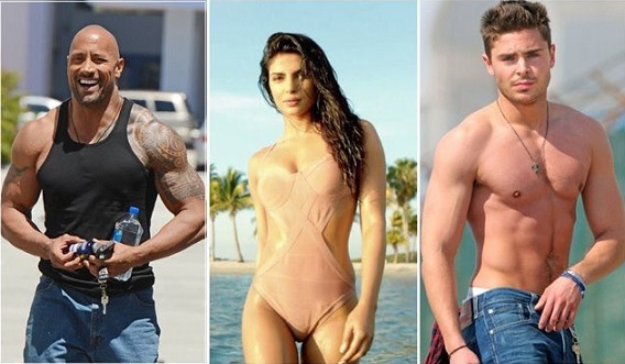 baywatch priyanka chopra-dwayne johnson-zac efron