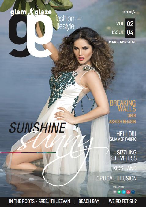 Sunny Leone on Glam & Glaze Cover (2)