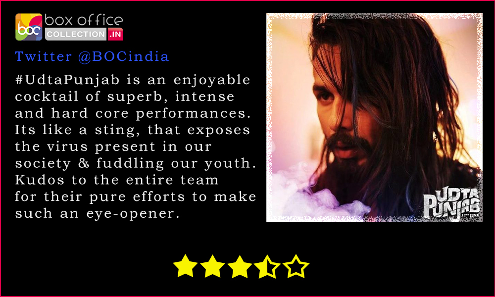 udta punjab tweet review