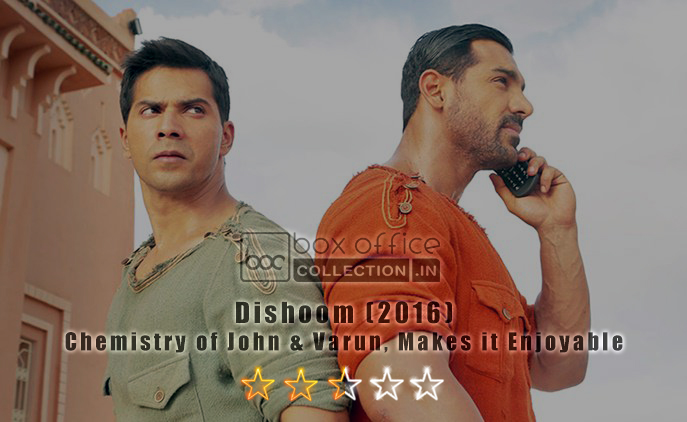 Dishoom Movie Review 2.5/5 stars