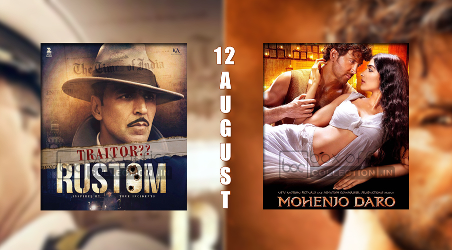 rustom vs mohenjo daro, rustom box office collection, mohenjo daro box office collection, rustom akshay kumar vs hrithik roshan