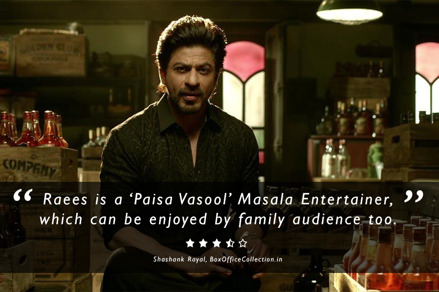 Review of Raees (2017)