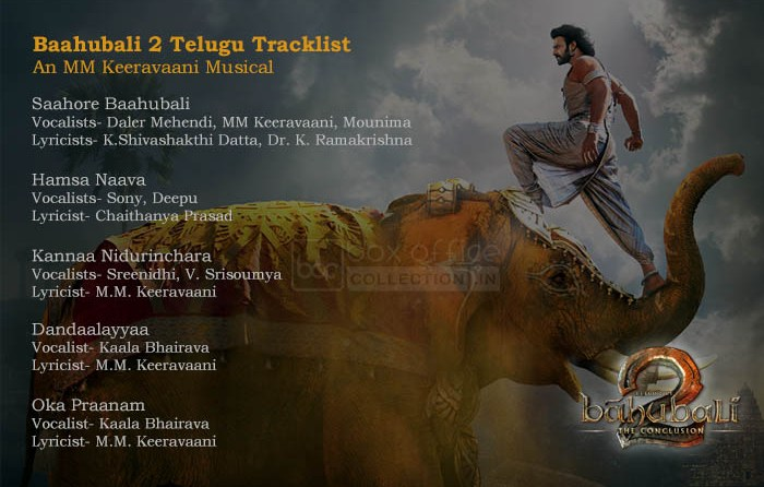Baahubali 2 Tracklist