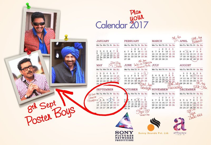 Poster Boys Release Date 8th September 2017
