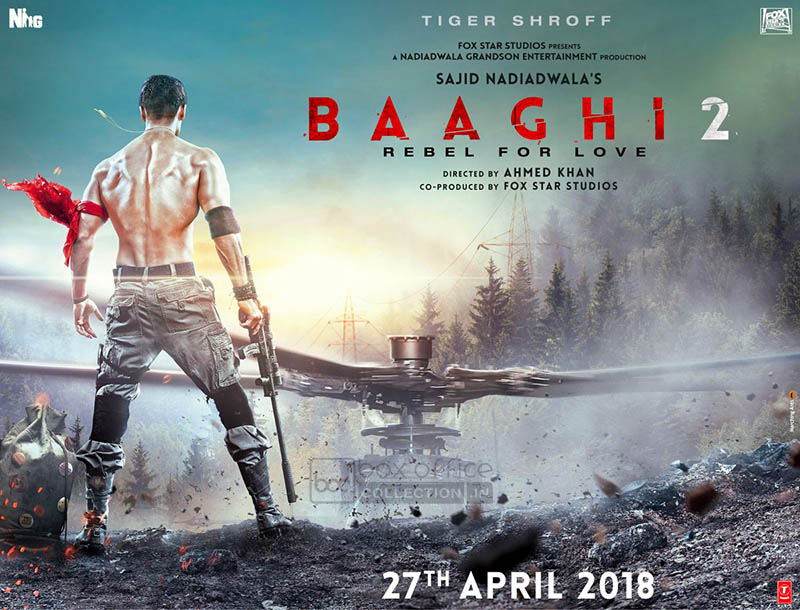 'Baaghi 2' poster: Tiger Shroff looks irresistable with a well-chiselled body
