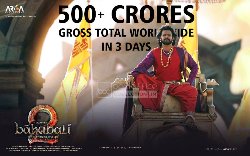 Baahubali 2 Total Collection Worldwide in 3 Days