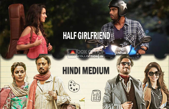 Half Girlfriend and Hindi Medium Box Office Prediction