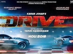 Teaser Poster of Drive, starring Sushant Singh Rajput & Jacqueline Fernandez