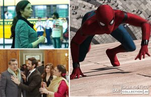 4 days total collection of Mom, Guest Iin London and Spiderman Homecoming