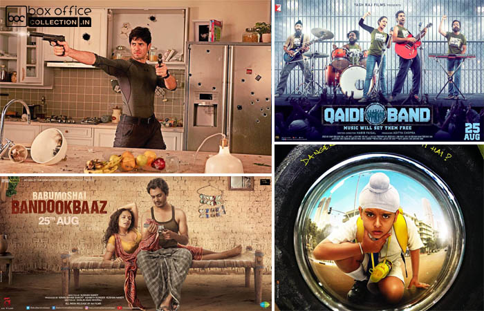 1st Day Collection Prediction of A Gentleman, Babumoshai Bandookbaaz, Qaidi Band & Sniff