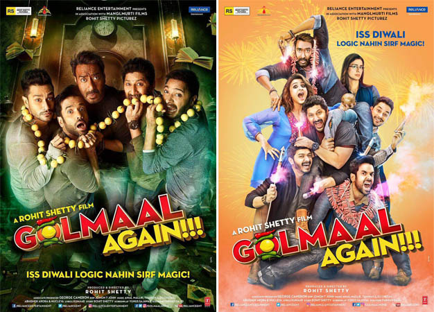 Golmaal Again First Look Posters, Rohit Shetty's Film Gives a Spooky Feel