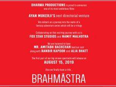 Karan Johar's Next with Amitabh-Ranbir-Alia titled Brahmastra, 15 August 2019 Release