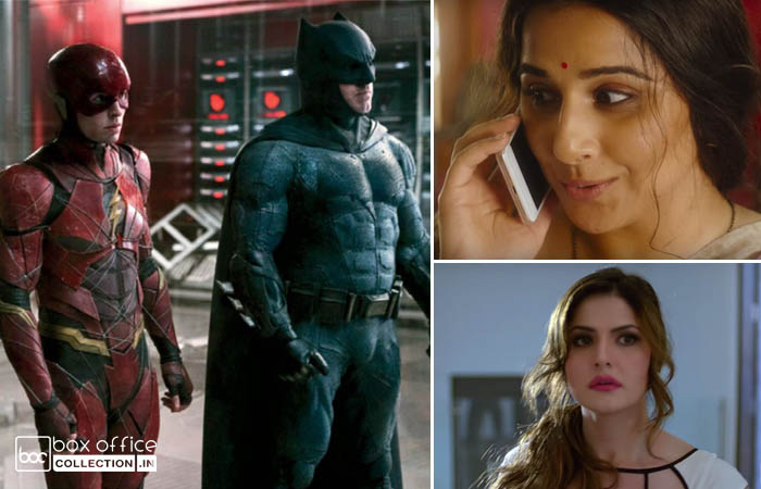 Justice League, Tumhari Sulu & Aksar 2 3 Days Total Collection