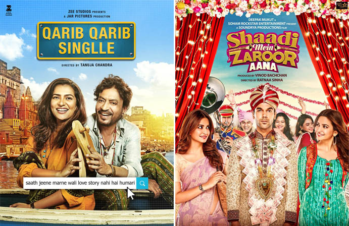 First Day Expected Collection of Qarib Qarib Singlle & Shaadi Mein Zaroor Aana