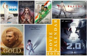 Hindi Movie Calendar 2018