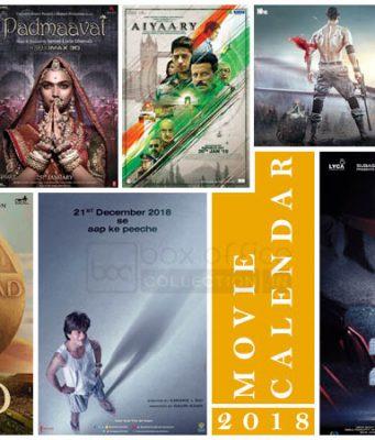 Hindi Movie Calendar 2018
