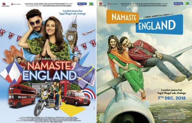 first look posters of namaste england