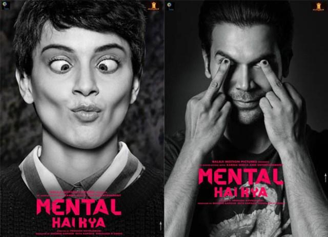 Kangana Ranaut and Rajkummar Rao starrer Mental Hai Kya Posters